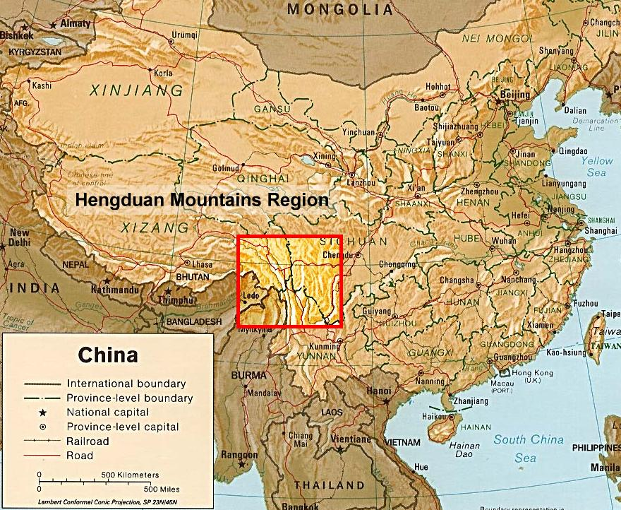 Plants and fungi of south central china biodiversity of the map of china highlighting the hengduan mountains gumiabroncs