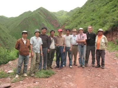 2009 Expedition team: Xizang (Tibet), Gongjue (Gongjo) Xian, along the Re Qu (Re River)