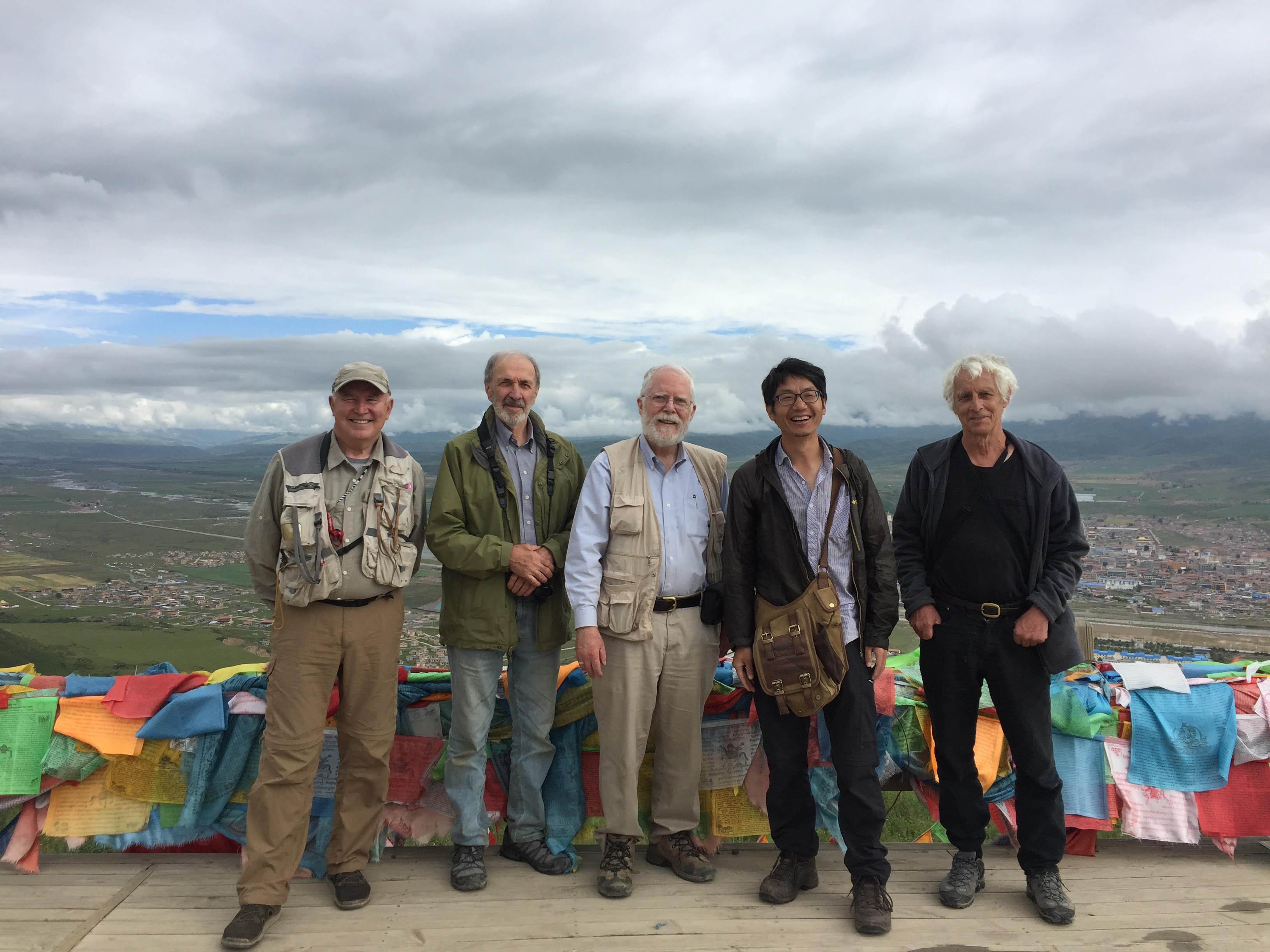 2018 Expedition team: Sichuan Province, Aba Xian, outside the city of Aba (in background)